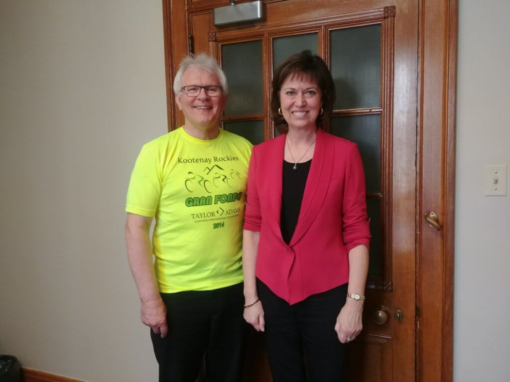 MPs Wayne Stetski and Pam Damoff - All Party Cycling Caucus Co-Chairs