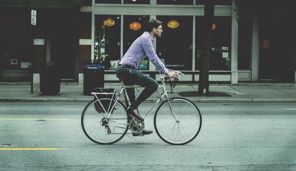 Transition From the Bike to the Office