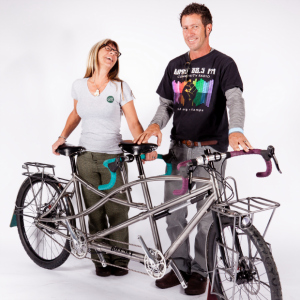 Andy and Sandi's Handmade Bilenky Touring Tandem