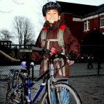 Kaelob's Winter Bike Commute to School