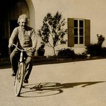 Albert Einstein Rides a Bike